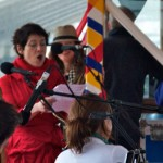 Singing for the Queens jubilee 2012 on the Thames.
